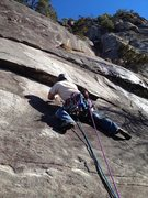 Rock Climbing Photo: Working through the first moves of Seven Year Itch...