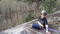Rock Climbing Photo: My grandson waiting his turn to rappel back down f...
