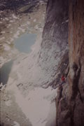 Rock Climbing Photo: Somewhere on the Golden dihedral in the 1980's