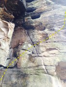 Rock Climbing Photo: Route view, minus a little bit of the start of the...