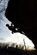 Rock Climbing Photo: Cory on Steppin' Out 5.12 3-8-16
