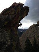 Rock Climbing Photo: Bone Crusher Chris Taylor on the Horn....