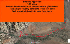 Rock Climbing Photo: Birdland approach hiking route.