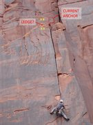 Rock Climbing Photo: Suggested locations to move the anchor.  See my co...
