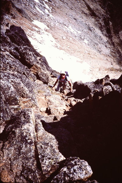 Rock Climbing Photo: Further along the ridge - unroped by now (1982 SoE...