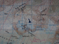 """Rock Climbing Photo: Map: """"Close up Map"""" of Fairy Meadow Area..."""