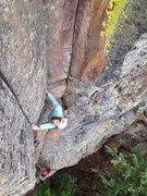 Rock Climbing Photo: Bearing down.