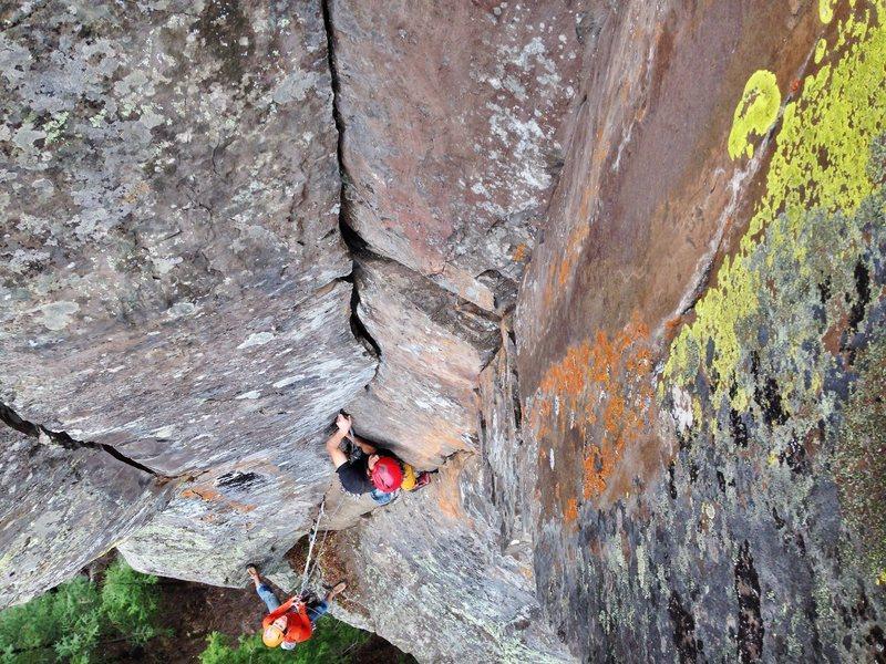 Rock Climbing Photo: Mikey is lichen it.