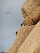 "Rock Climbing Photo: A rather unusual upper belay on ""Slotterhouse..."