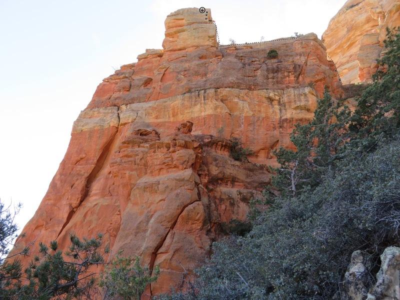 Rock Climbing Photo: Original route