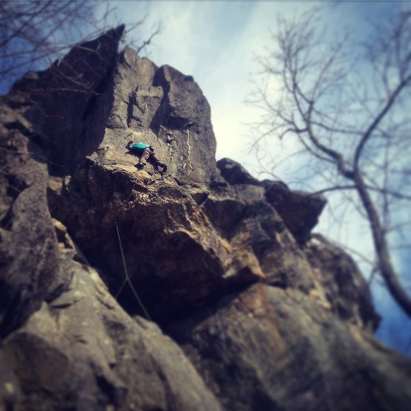 Rock Climbing Photo: Me on a Birthday send of this sweet and at times b...