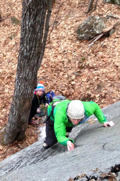 Rock Climbing Photo: Alec climbing, torie creepin