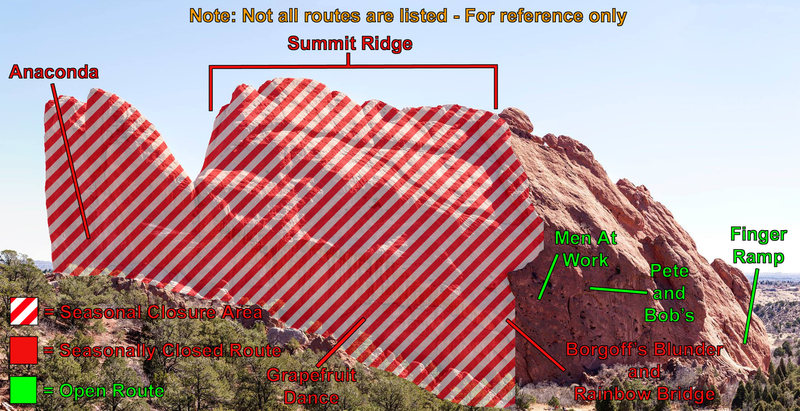 Rock Climbing Photo: North Gateway closure reference image.