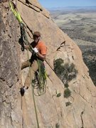 Rock Climbing Photo: Hanging belay on a chicken head in Cochise strongh...