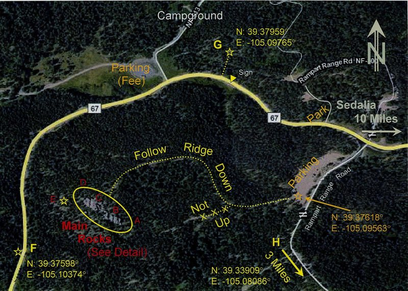 Rock Climbing Photo: Locations of rocks.