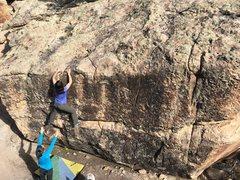 Rock Climbing Photo: Teri on Liars Gonna Hate.