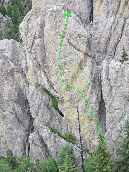 Rock Climbing Photo: Named after Pat Fleming's tasteful math jokes.
