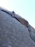 Rock Climbing Photo: Leading the undercling section