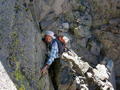 Rock Climbing Photo: Walter Potter on the traverse from Polemonium to S...