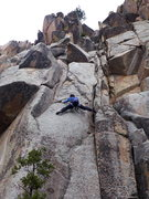 Rock Climbing Photo: Mark Jenkins doing the crux slab traverse on Hippo...
