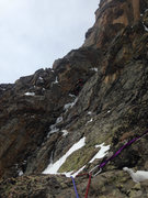 Rock Climbing Photo: This was our second pitch. You can make out where ...