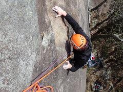 Rock Climbing Photo: The bulge ontop of P-1