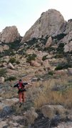 Rock Climbing Photo: Sean running for Peacemaker with ignorant bliss