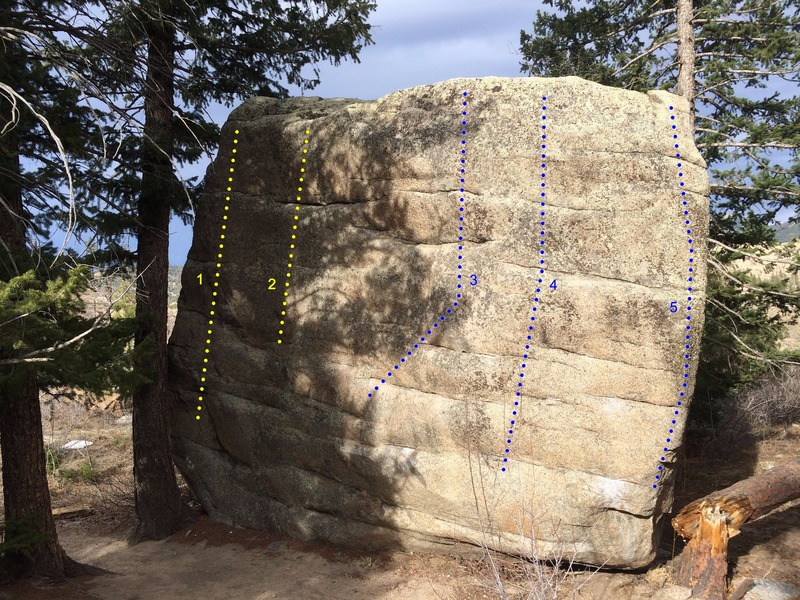 Natural Apparatus Boulder's Southwest face.<br>