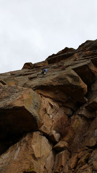 Rock Climbing Photo: Scrooge McDuck, a great warm-up.