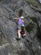 Rock Climbing Photo: Snorre prior to the first steep bit.