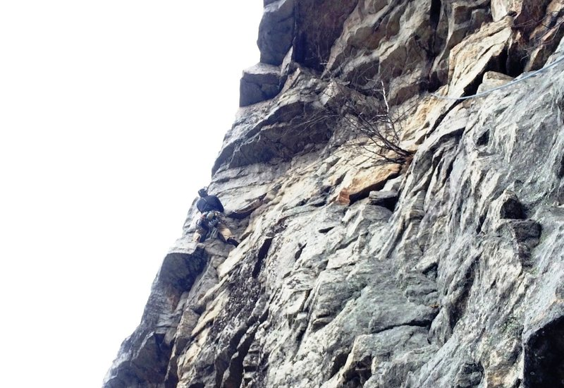 Rock Climbing Photo: The P2 Crux