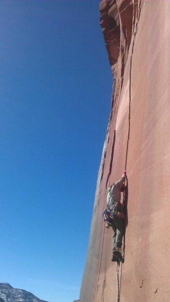 Rock Climbing Photo:  Starting the jams.