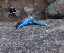 Rock Climbing Photo: Hugging the cracks on the second ascent, Laurel sh...