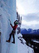 Rock Climbing Photo: Jon Jugenheimer starting up the left side of Carls...