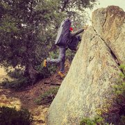 Rock Climbing Photo: Mitch with undoubtedly the first crash pad and boo...