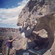 Rock Climbing Photo: Fun heel hooks.