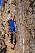 Rock Climbing Photo: Derek cruising up Ripped.