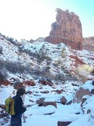Rock Climbing Photo: Winter recon.