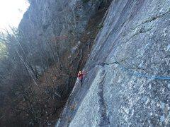 Rock Climbing Photo: Traversing
