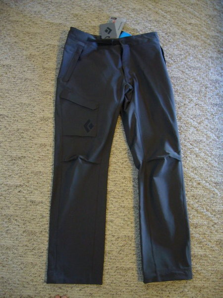 Black Diamond: BDV Pants. New Mens Medium Slate. $80<br> <br> SOLD