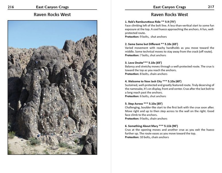 Robbins Guide - Raven Rocks West