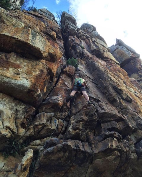 5.10a at Main Crag in Silvermine.