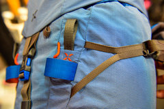 Rock Climbing Photo: Velcro to hold the axe in place.