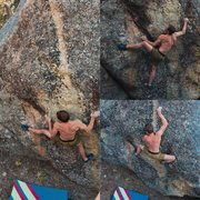 Rock Climbing Photo: John Andersen on the second ascent of Northern Lig...
