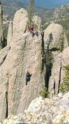 Rock Climbing Photo: Poor quality but a different view then most of the...