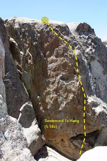 Sentenced To Hang (5.10c), Holcomb Valley Pinnacles