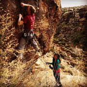 "Rock Climbing Photo: Marty Larsen on ""Not Arragh"" at the Gap"