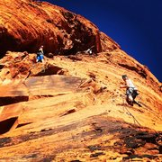 "Rock Climbing Photo: New multiple pitch route ""Hero"" on the u..."