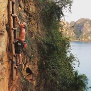 Rock Climbing Photo: January 2016 at the base of the Thaiwand Wall
