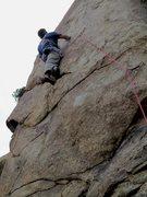 "Rock Climbing Photo: Murph on ""Lucky 7."""